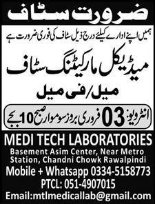 Medical marketing staff jobs
