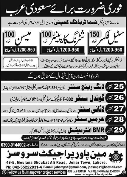 Latest company jobs in Saudi Arabia