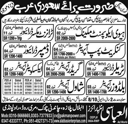 Latest Operator jobs in Saudi Arabia