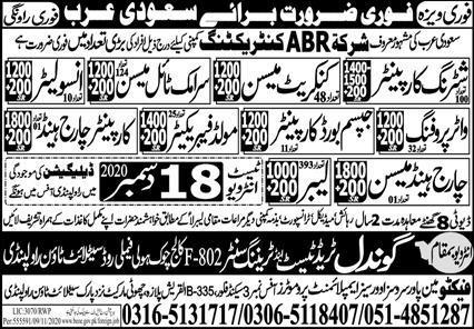 Latest Vacancies today in Saudi Arabia