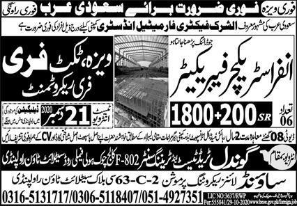 100 staff Required in Saudi Arabia