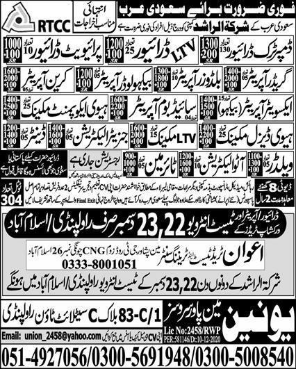 Latest free jobs in Saudi Arabia