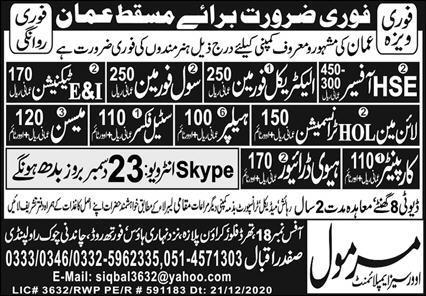 Latest jobs in Muscat Oman