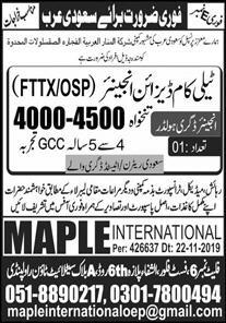 Engineers Required in Saudi Arabia