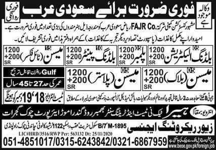 Hundreds jobs in Saudi Arabia