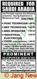 100 Technician Required in Saudi Arabia