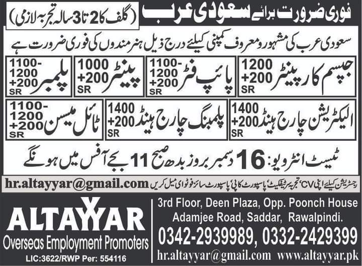 Thousands jobs in Saudi Arabia