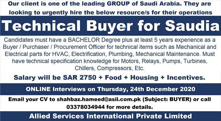 Latest technical jobs in Saudi Arabia
