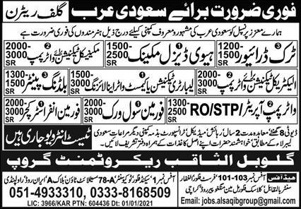 Work Visa Jobs in Saudi Arabia
