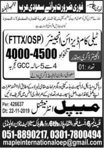 Engineers visa jobs in Saudi Arabia