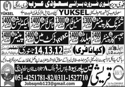 Construction jobs in Saudi Arabia