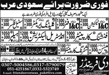Free visa tickets jobs