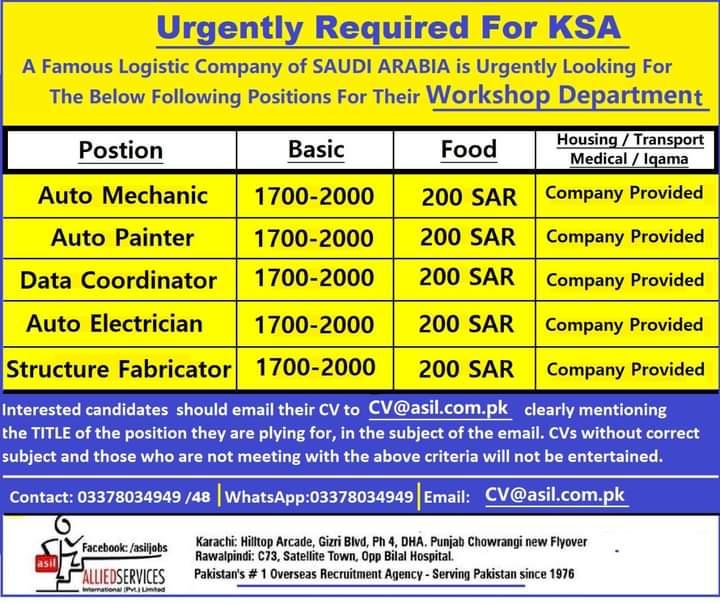 Free visa 550 jobs