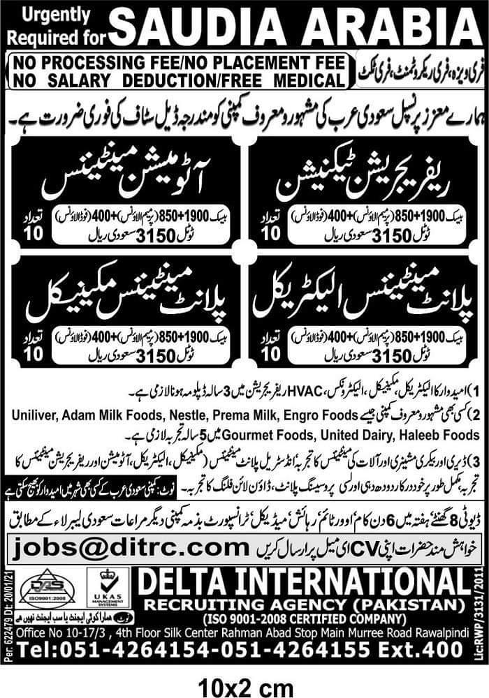 Latest Free Visa Free Tickets jobs