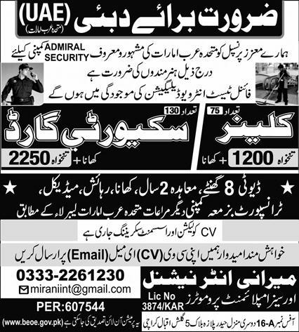 Latest Free work Visa Jobs In Dubai