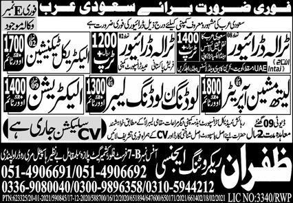 Latest Free Visa Jobs in Saudi Arabia