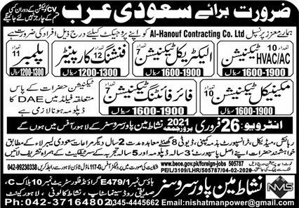 Latest Jobs in Al Hanouf company