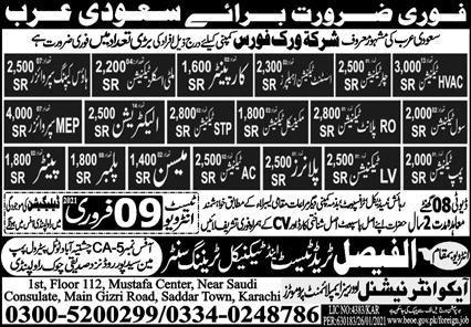Latest Free visa jobs in WorkForce Company