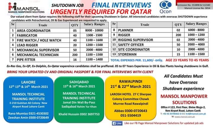 Excellent Free Shuttdown Work Visa Jobs