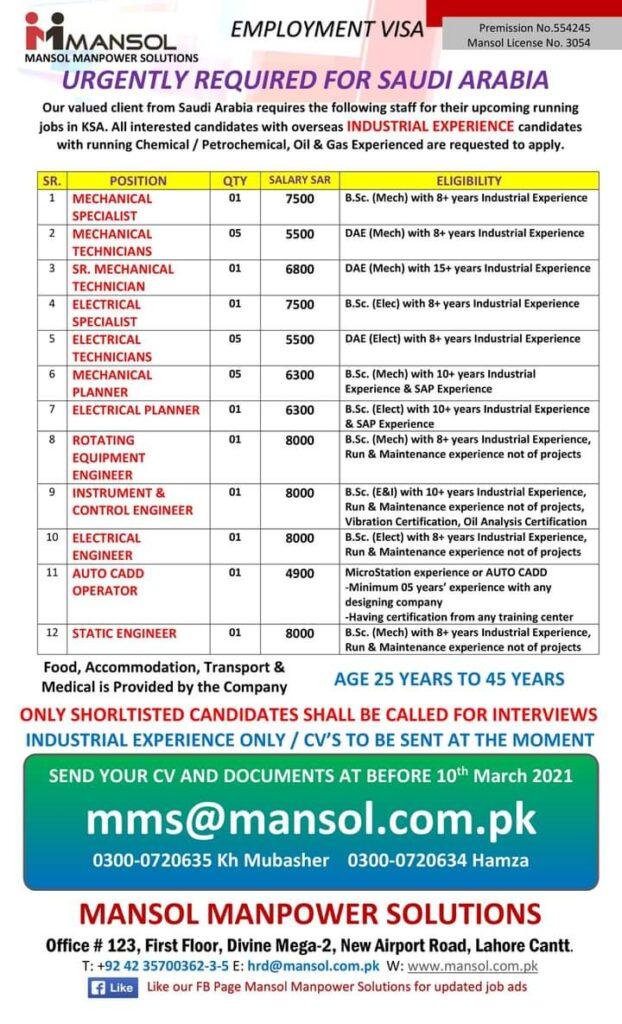 Excellent 750 work visa jobs