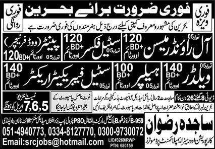Bahrain Construction company jobs 2021