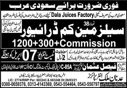 Latest Drivers Jobs in  Dala juice Factory 2021