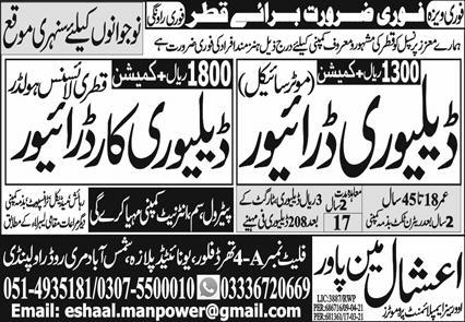 Delivery Drivers via Jobs in Qatar