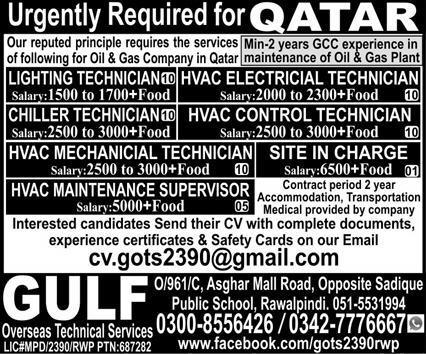 Urgently 500 Staff required for Qatar