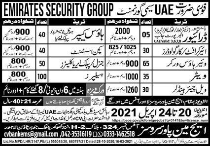 Latest Emirates Airlines visa jobs