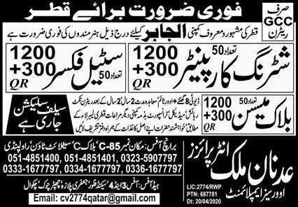 Latest Jobs in Qatar Jaber Company