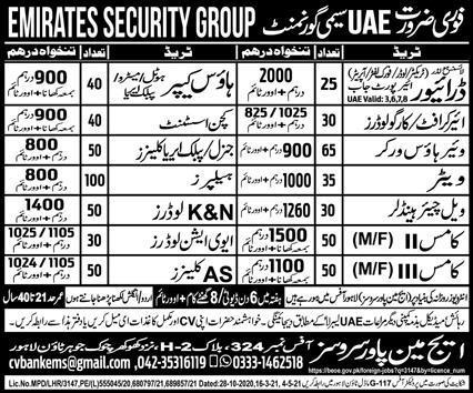 Latest visa jobs Opportunities in UAE