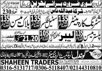Latest Jobs in Bahrain Company