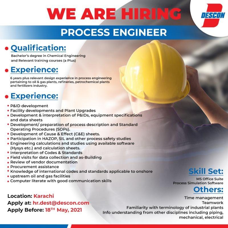 Engineering jobs in Descon company