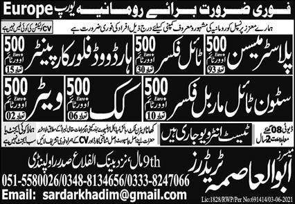 Europe 260 New Jobs For Pakistani 2021