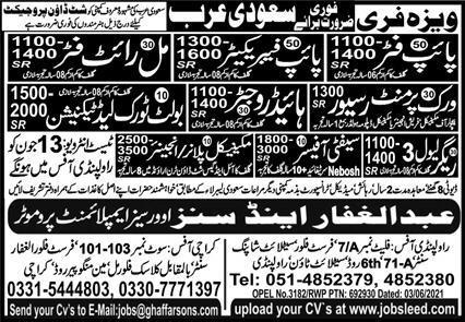 Shutdown jobs in Saudi Arabia 2021