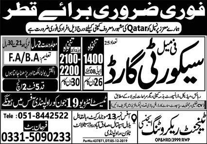 Latest Vacancies in Qatar For FeMale