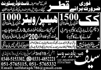 Qatar Petroleum jobs for Pakistani Fresher
