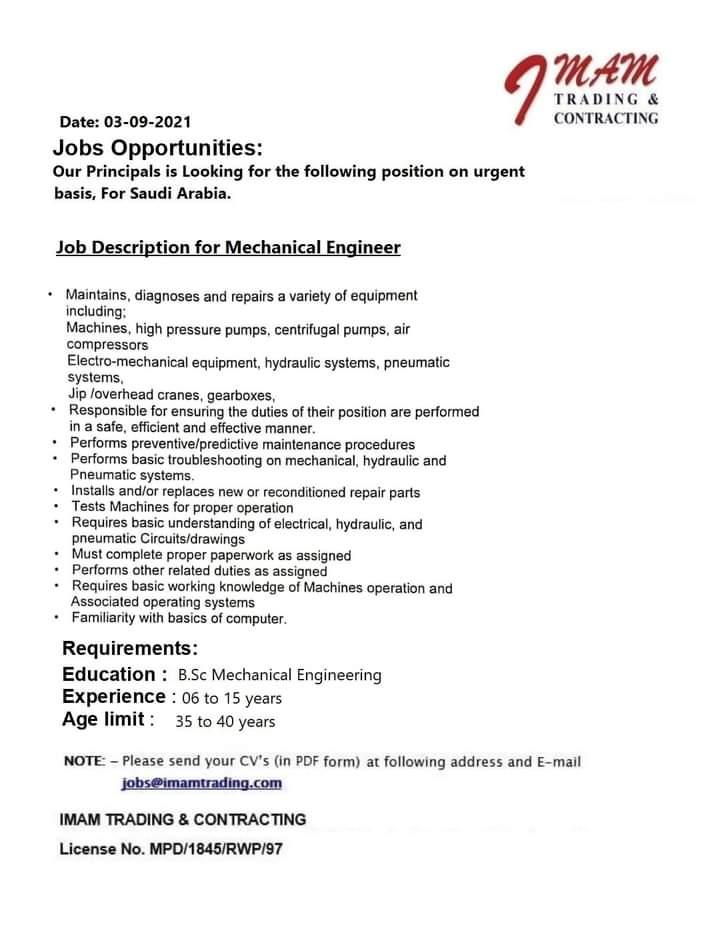 Mechanical Engineering jobs in Riyadh