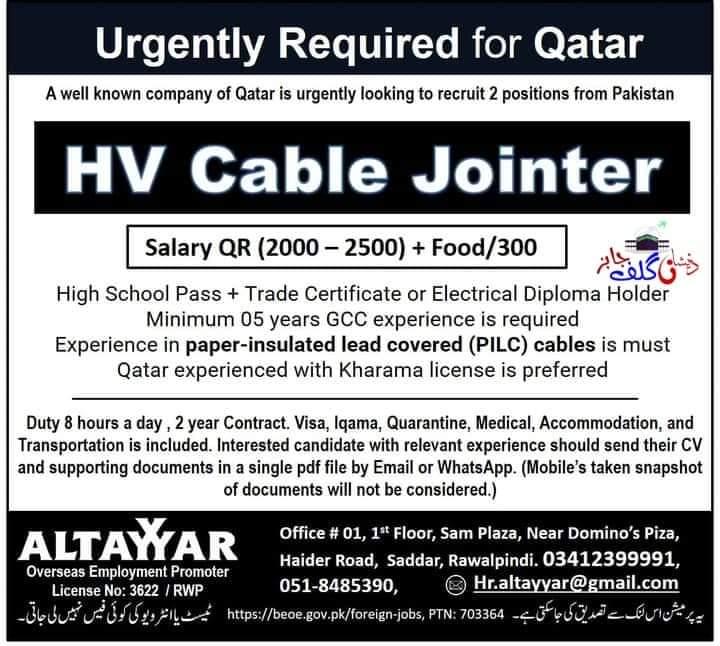 Industrial Electrician jobs in Qatar